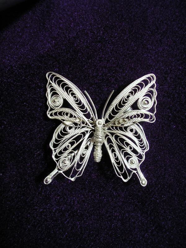 Fluture din argint filigranat
