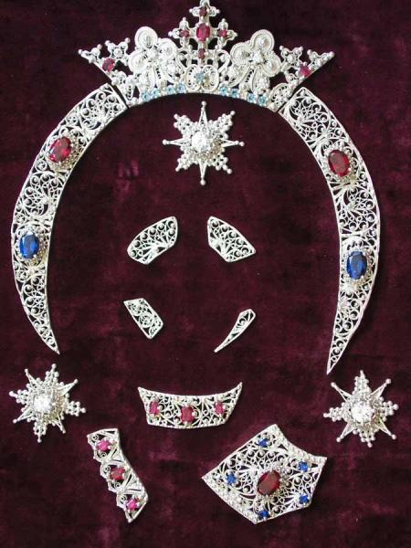 Ornamente pentru icoana Maicii Domnului Manastirea Zlatna